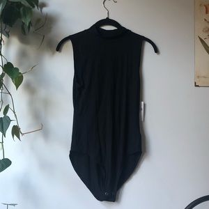 NEW American Eagle Black Ribbed Bodysuit